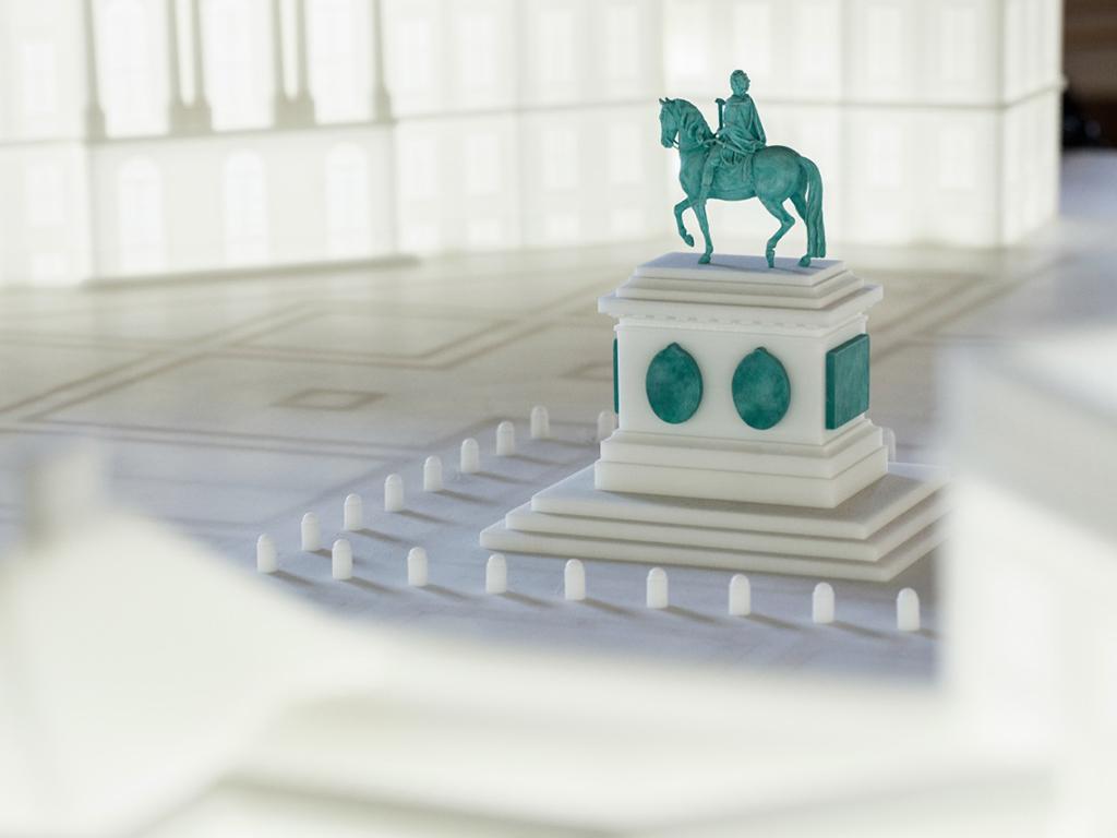 Kongernessamling Rytterstatue 3D scannet